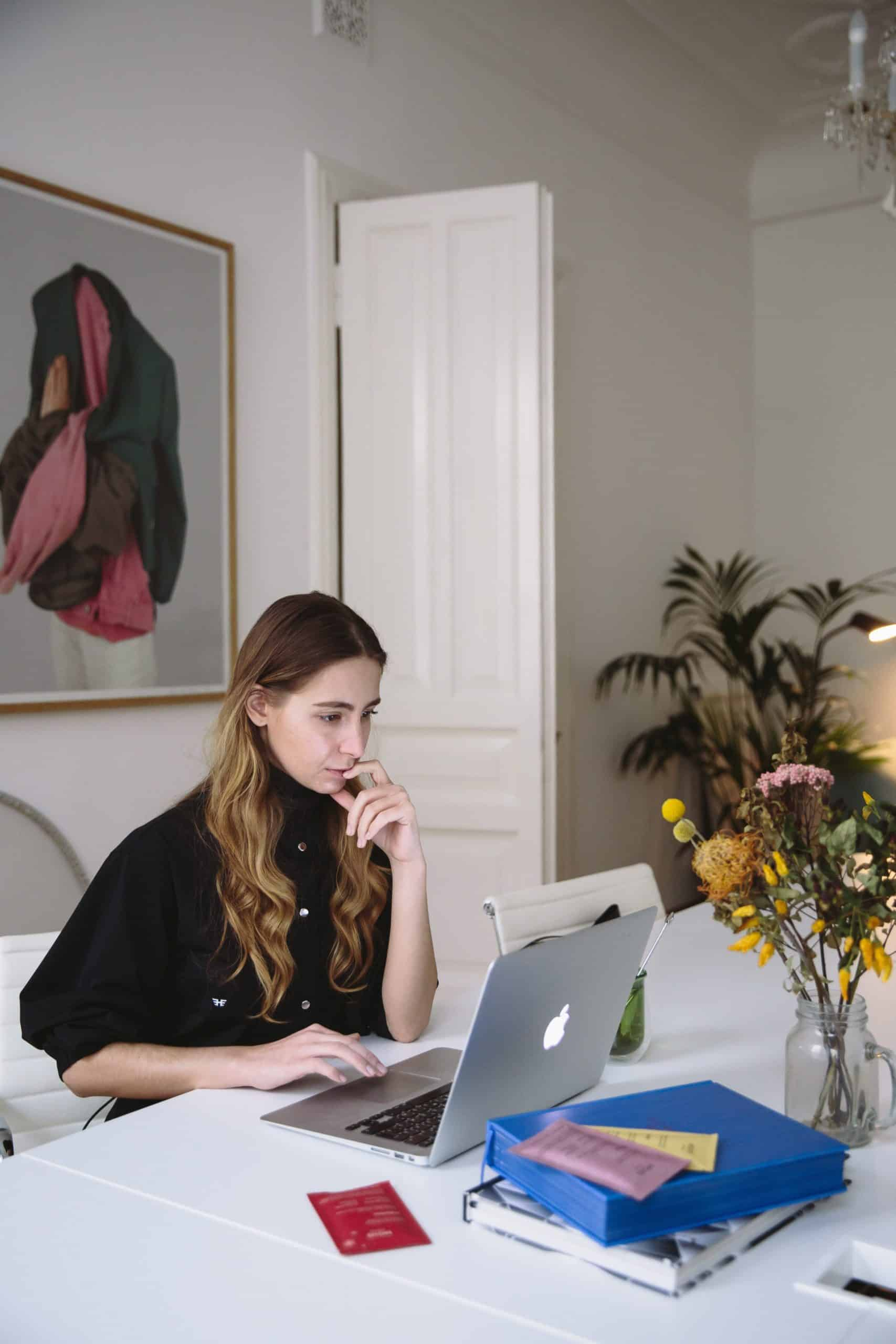 Woman at laptop computer