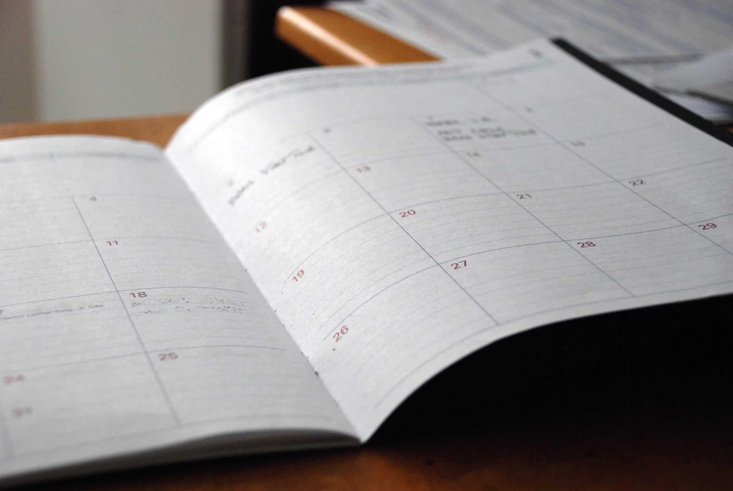 Schedule calendar planner