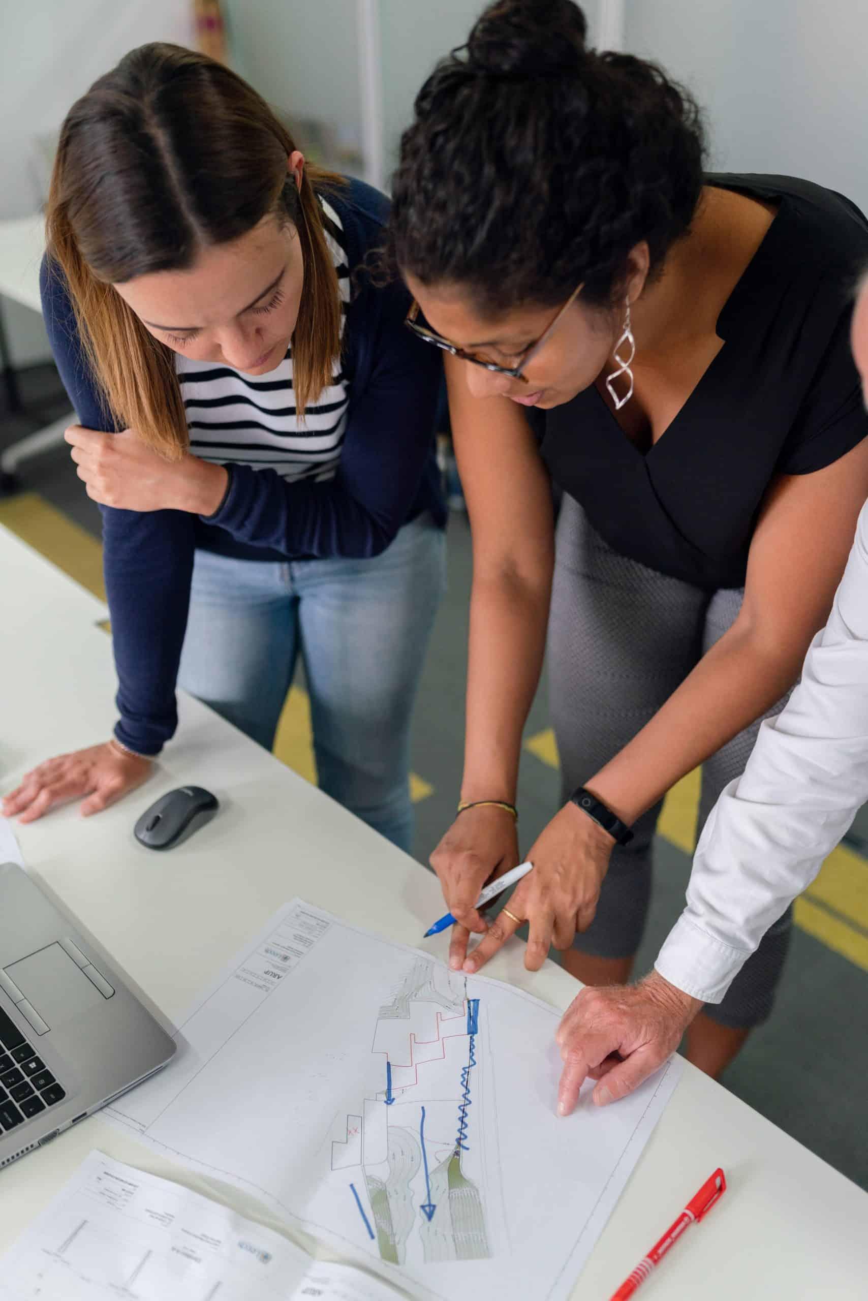woman advising career woman
